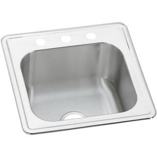 Elkay Gourmet Drop In Steel ESE2020103 Stainless Steel Kitchen Sink
