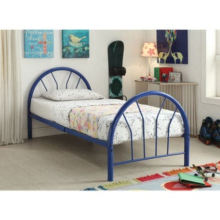 Silhouette Blue Twin Bed