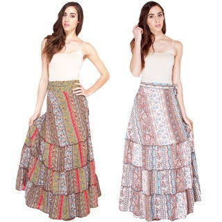 Sprintime Paisely Drawstring Pencil Skirt (India)