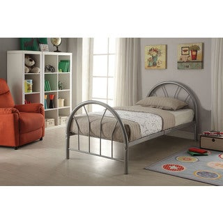 Silhouette Silver Twin Bed