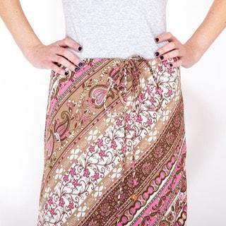 Sprintime Paisely Drawstring Pencil Skirt (India)