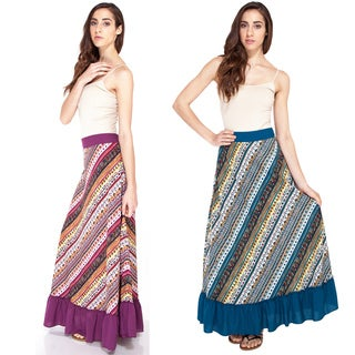 Handmade Funky Aztec Ruffled Summer Skirt (India)