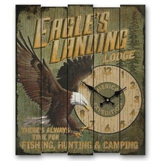 American Expedition Large Wooden Clock