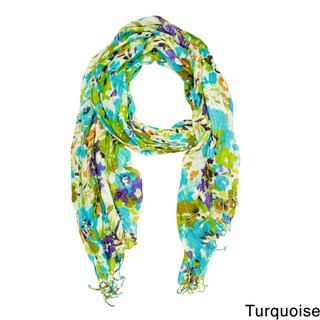 Saachi Women's Floral Watercolor Scarf (India)