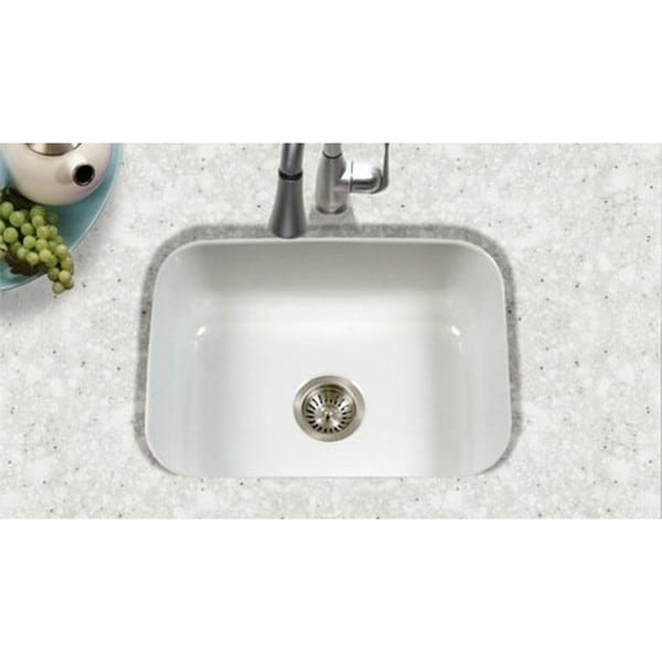 ... Undermount Porcelain Enamel Steel PCS-2500WH White Kitchen Sink