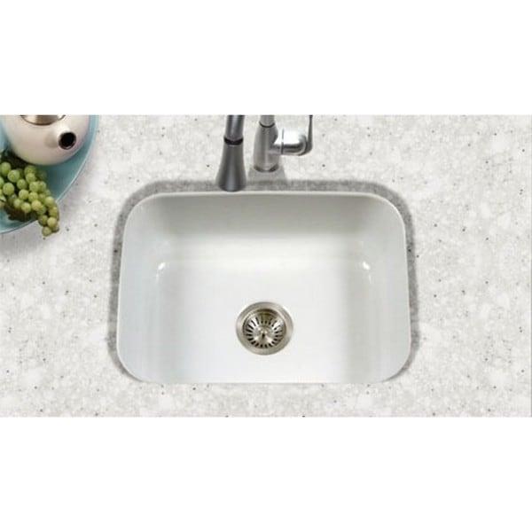 undermount porcelain enamel steel pcs 2500wh white kitchen sink