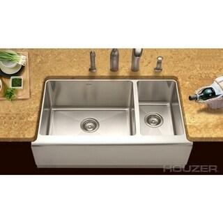 Houzer Epicure Farmhouse Steel EPO-3370SR Stainless Steel Kitchen Sink