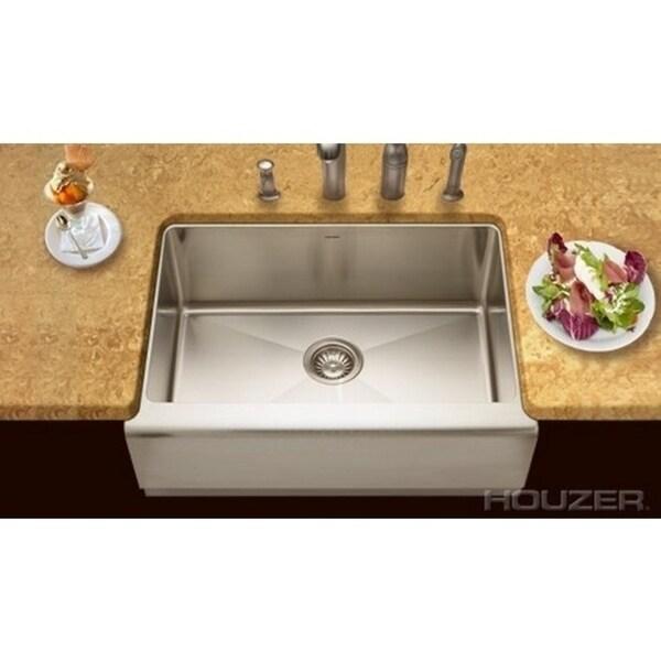 Houzer Epicure Farmhouse Steel EPS-3000 Stainless Steel Kitchen Sink