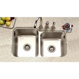 Houzer Elite Undermount Steel EC-3208SR-1 Satin Kitchen Sink