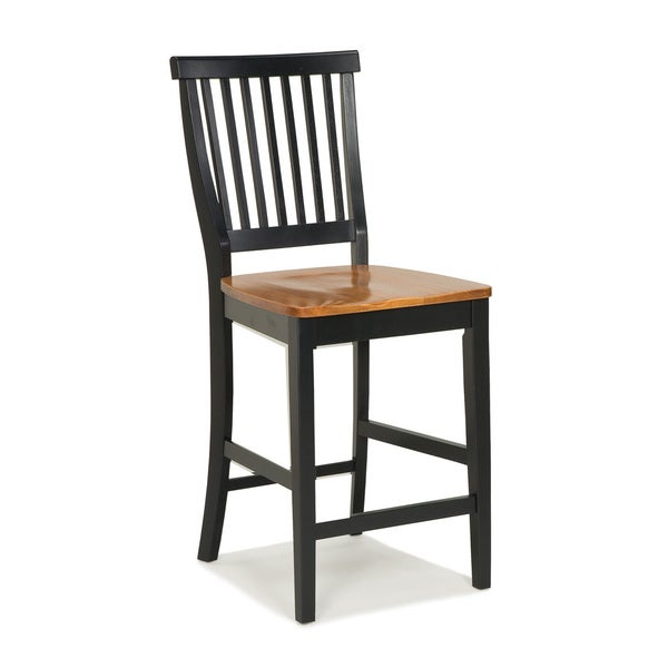 24 inch black and distressed oak bar stool by home styles for 24 inch bar stools