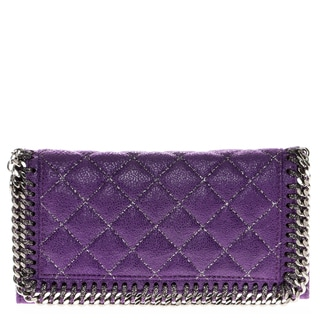 Stella McCartney Falabella Quilted Shaggy Deer Flap Wallet