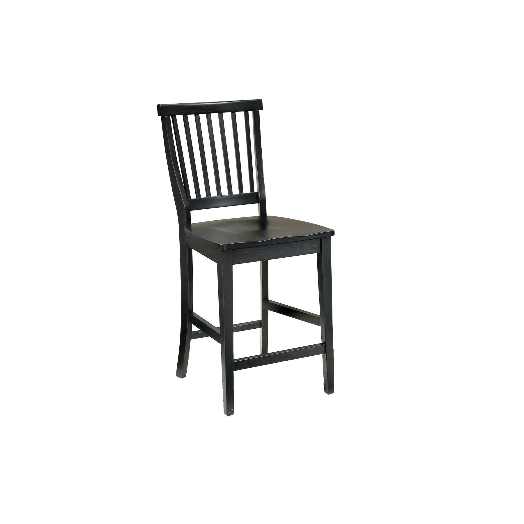 Arts and Crafts Bar Stool by Home Styles (Black) (Wood)