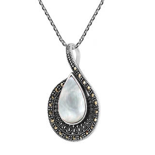 Mesmerizing Teardrop Stone .925 Sterling Silver Necklace (Thailand)