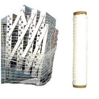 (2 Rolls) 20 In 3000 Ft Knitted / Woven Stretch Netting Film (Pallet Wrap)