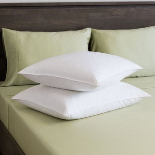 St. James Home White Goose Feather Pillow (Set of 2)