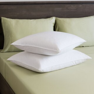St. James Home White Goose Feather Pillow (Set of 2) (4 options available)