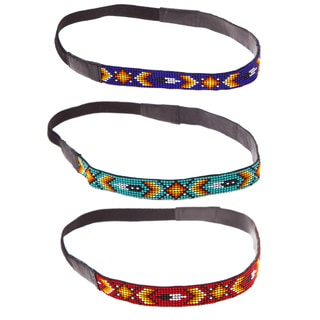 Handmade Native Boho Beaded Headband (India)