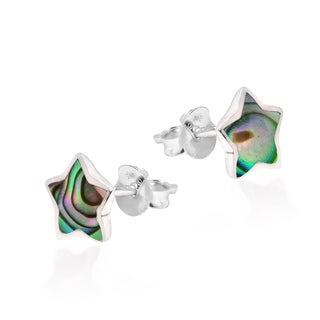 Handmade Adorable Petite Star Stone Sterling Silver Stud Earrings (Thailand)