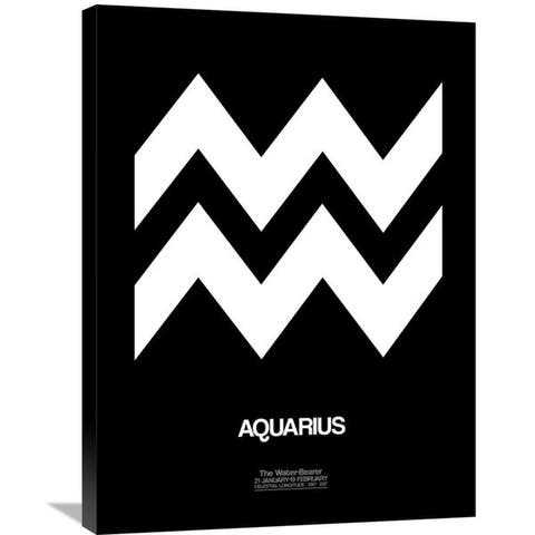 Naxart Studio 'Aquarius Zodiac Sign White' Stretched Canvas Wall Art