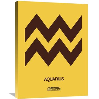Naxart Studio 'Aquarius Zodiac Sign Brown' Stretched Canvas Wall Art