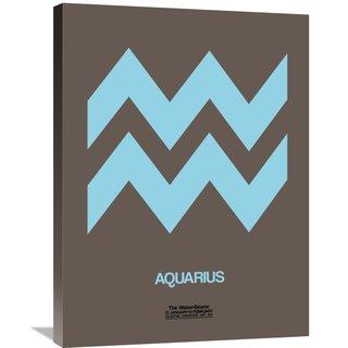 Naxart Studio 'Aquarius Zodiac Sign Blue' Stretched Canvas Wall Art