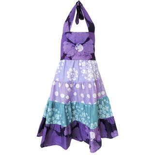 Global Mamas Handmade Girls Gypsy Dress - Violet Patchwork (Ghana)|https://ak1.ostkcdn.com/images/products/11547127/P18492216.jpg?impolicy=medium