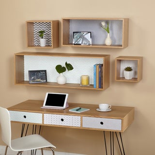 Simple Living Geometric Wall Cubbies