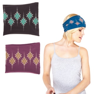 Geometric Om Organic Cotton Headband (Nepal)