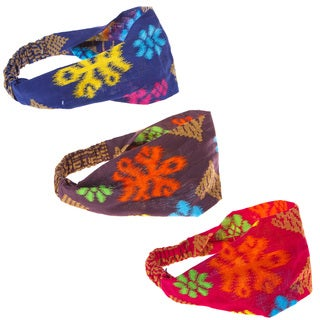 Handmade Festival Flower Ikat Headband (Indonesia)