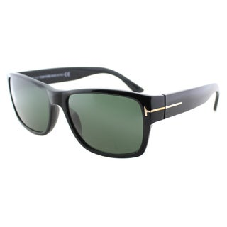 Tom Ford Mens TF 445 Mason 01N Black Plastic Rectangle Sunglasses