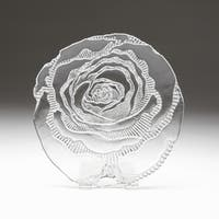 Rose Clear Silver Brushed Side Plate