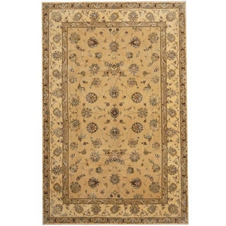Herat Oriental Indo Hand-tufted Tabriz Wool and Silk Rug (5'9 x 8'9)