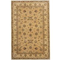 Herat Oriental Indo Hand-tufted Tabriz Wool and Silk Rug (5'9 x 8'9) - 5'9 x 8'9