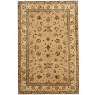 Herat Oriental Indo Hand-tufted Tabriz Wool and Silk Rug (5'9 x 8'9) - 5'9 x 8'9