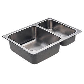 Moen Drop In Steel G202720 Stainless Kitchen Sink