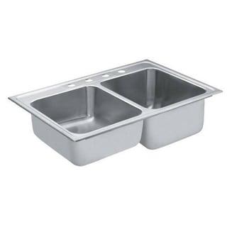 Moen Commercial Drop In Steel 22122 Satin Kitchen Sink