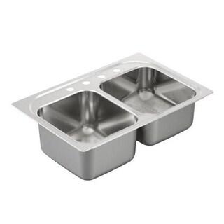 Moen Drop In Steel G202334 Stainless Kitchen Sink