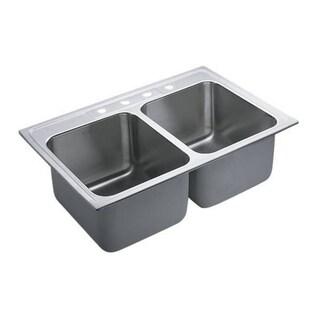 Moen Commercial Drop In Steel 22121 Satin Kitchen Sink