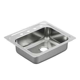 Moen Drop In Steel G201964 Stainless Kitchen Sink