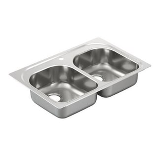 Moen Drop In Steel G202591 Stainless Kitchen Sink
