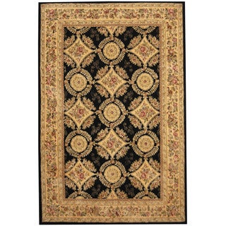 Herat Oriental Indo Hand-tufted Tabriz Wool and Silk Rug (5'9 x 8'9)