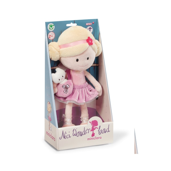 Neat-Oh Nici Wonderland MiniClara 11.75 inch Dangling Plush Doll with Handbag