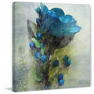 Marmont Hill 'Blue Melody' by Irena Orlov Painting Print on Canvas