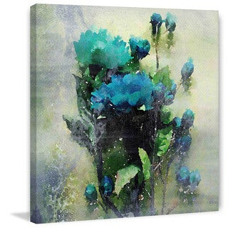 Marmont Hill 'Blue Garden Bloom' by Irena Orlov Painting Print on Canvas