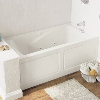 American Standard Evolution 2425VC-LHO.020 White Whirlpool Bathtub