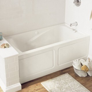 American Standard Evolution 2425V-LHO.002.020 White Soaking Bathtub with Left Hand Drain Outlet