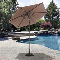 Sunjoy Delilah Aluminum and Sling Fabric Market Umbrella
