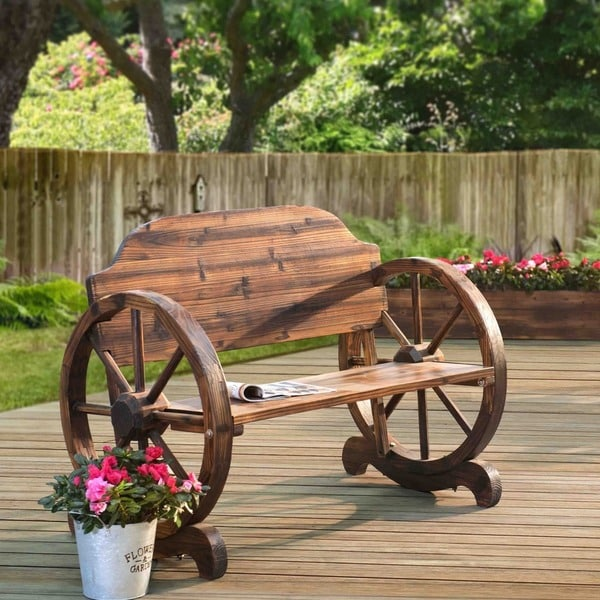 Water Resistant Woods This Is What You Should Know: Walker Wagon Wheel Bench