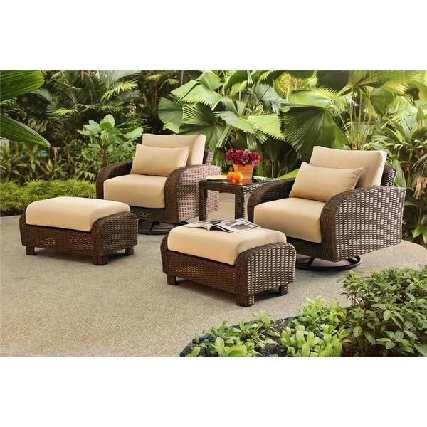 Shop Sunjoy Symphony 5-piece Relaxer Set - Free Shipping ... on Safavieh Outdoor Living Granton 5 Pc Living Set id=77302