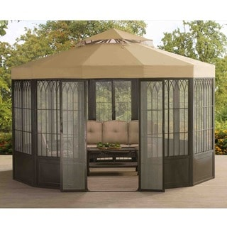 Sunjoy 110107004 Forks Screen House Pavilion Gazebo